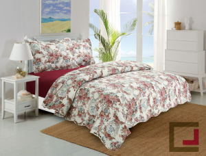 Polyester Ultrasonic Quilting Comforter Sets/Both Sides Print Patchwork Quilted pictures & photos