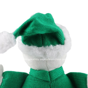 Christmas Gifts Plush Snowman Toys with Green Sweater pictures & photos