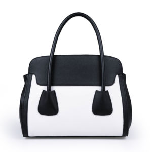 European Famous Brand Similar Classic Two Tones Ladies Handbag