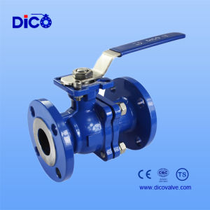 Carbon Steel Flange Ball Valve with Locking Handle pictures & photos