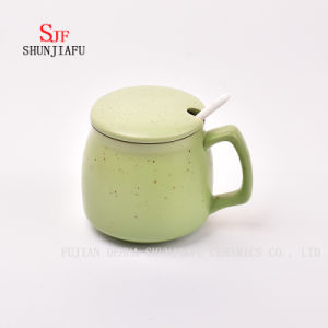 Creative Ceramic Mug with Lid. Breakfast Coffee Cup/Home Decoration/Office Decoration pictures & photos