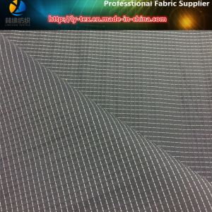 Polyester Yarn Dyed in Black Ground, White DOT Fabric for Windbreaker (YD1185) pictures & photos