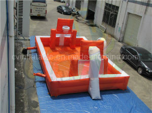 Factory Direct Inflatable Soap Football Field, Basketball Court Combo pictures & photos