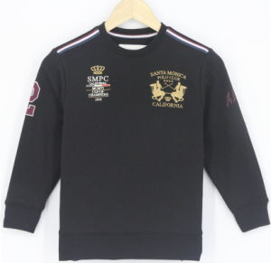 2017 New Design Wholesale Custom Junior Boys Embroidery Fleece Sweatshirt Top Clothing