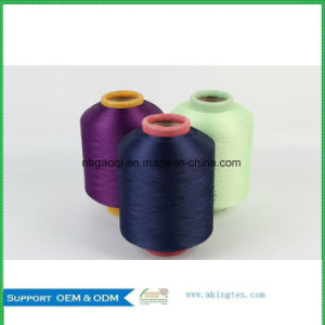 Stock Lots of 300d/96f DTY Polyester Dope Dyed Yarn in Home Textile pictures & photos