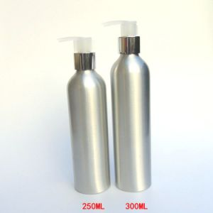 Customized Silver Aluminum Bottle with Lotion Pump (AB-013) pictures & photos