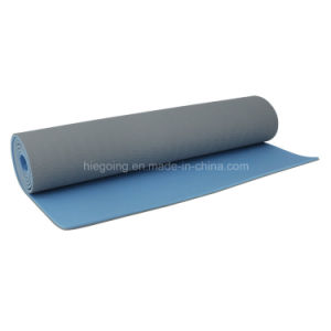 Non-Slip 2 Layer TPE Yoga Mat with Sport Yoga Mat pictures & photos