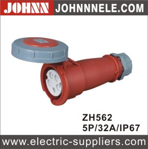 IP67 5p 32A Red High Voltage Industrial Connector pictures & photos