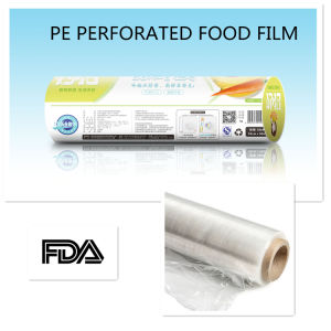 High Quality Factory Supply Custom Logo Transparency Food Grade Roll Wrap PE Cling Film pictures & photos