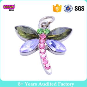 Cheap Alloy Wholesale Enamel Print Dragonfly Charm pictures & photos