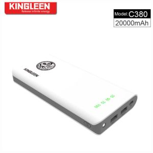 Kingleen Model C380 Large Capacity and High Quality Power Bank 20000mAh with LED Light Factory Direct Sale pictures & photos
