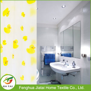 Custom Logo Waterproof PEVA Duck Printing Shower Curtain pictures & photos