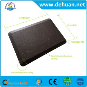 New Modern Life Products Foam Memory PU Rubber Anti-Fatigue Mat for Kitchen/ Office/ Workshop Floor Mat pictures & photos