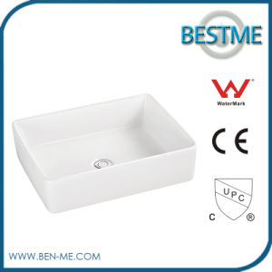 Countertop Bathroom Art Basin with White Color pictures & photos