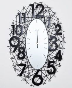 Large Metal Wire Wrought Technique Wall Clock