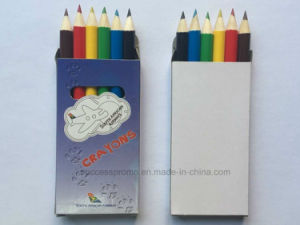Half Size 6 Wooden Color Pencils with Promotional Cardboard Box pictures & photos
