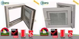 PVC Sound Insulation Residential Window, High Energy-Efficient Tilt Turn Windows pictures & photos