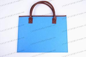 PU Hand Contrast Color Felt Handbag pictures & photos