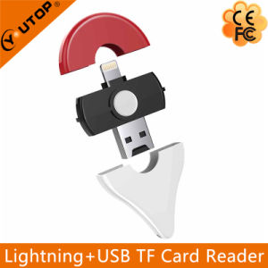 Microsd OTG Card Reader USB Flash Drive for iPhone iPad PC (YT-R009) pictures & photos