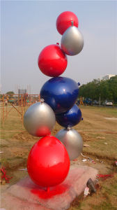 Stainless Steel Balloon Combination Sculpture, Outdoor Garden Metal Sculpture pictures & photos