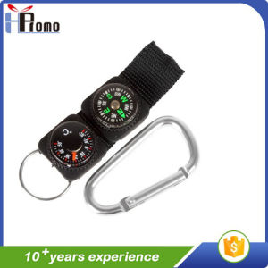 Multifunctional Aluminum Carabiner with Compass pictures & photos