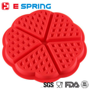 Top Quality FDA Certificant 5-Cavity Silicone Waffle Cake Mold pictures & photos