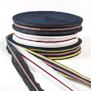 The Color Strips Polyester Ribbon for Garments and Bags pictures & photos