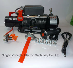 off-Road Winch Truck Winch with Synthetic Rope (12000LB) pictures & photos