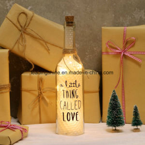 Holiday Valentine Days Gifts Starlight Bottle LED Light with Quote Family Friends pictures & photos