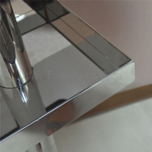 (SP-BT689) Square Stainless Steel Cocktail Bar Table with Storage pictures & photos