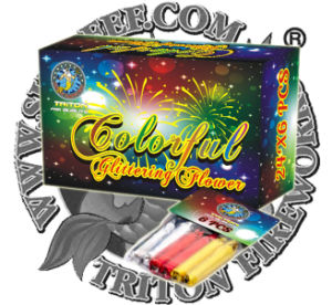 Colorful Glittering Flower Fireworks Toy Fireworks Factory Direct Price pictures & photos
