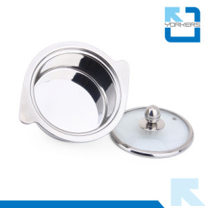 2016 New Design Double Handles Stainless Steel Food Warmer Mini Hot Pot pictures & photos
