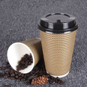 Ripple Wall Cup Coffee Ripper Yoghurt Paper Cups pictures & photos