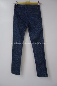 Deep Blue Jeans for Little Girls (V003) pictures & photos
