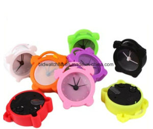 Modern Silicone Alarm Table Clock for Promotion Gift pictures & photos