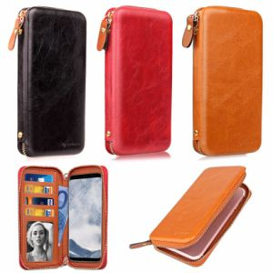 Universal Smart Phone Wallet Style Leather Case with Magnet pictures & photos
