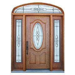 Iron Series FM 200I-Single Door with 2 Side Lite-Dark Walnut pictures & photos