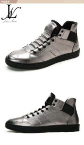 High Top Leather Fashion Casual Shoes (LT-003) pictures & photos