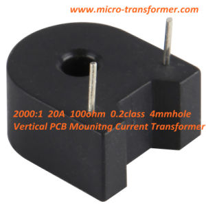 PCB Mounitng Current Transformer 2000: 1 20A 100ohm 0.2class 4mmhole (ZMCT104C) pictures & photos