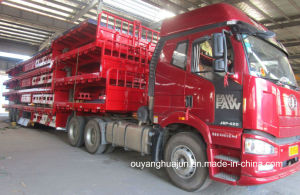 17.5 Meters Low Bed Flatbed Semi Trailer pictures & photos