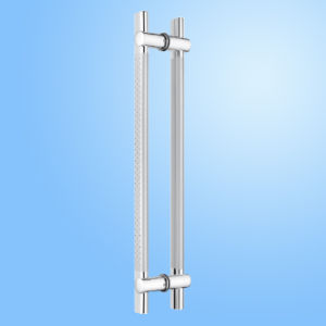 Glass Door Pull Handle with Lock (FS-1812) pictures & photos