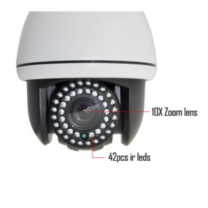 960p Dome IP PTZ Cameras with 10X Optical Zoom pictures & photos