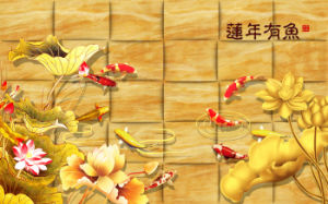 Imitative Relief Sculpture The Flowers UV Printed on Ceramic Tile Model No.: CZ-010 pictures & photos