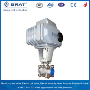 Electric 2 Way Female Thread Ball Valve for Dairy Application pictures & photos