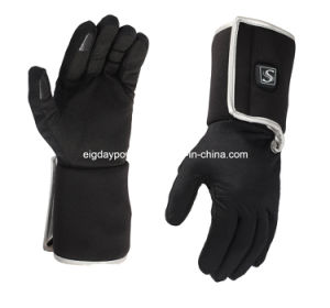 Super Slim Winter Battery Heated Glove Liner with Smart Control Unisex Black pictures & photos