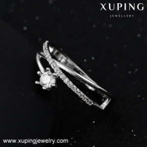 14094 Fashion Rhodium Pretty Diamond Finger Engagement Ring pictures & photos