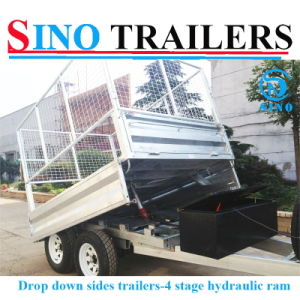 Hydraulic Tipping Trailer with Cage pictures & photos