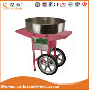 Electric Candy Floss Machine Pink Cotton Candy Maker with Cart pictures & photos