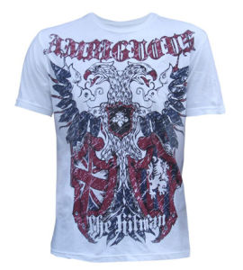 Discharge Printed T-Shirt for Men, Round Neck and Short Sleeves (BC-04)