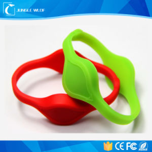 Custom Printed RFID Silicone Wristband for Access Control pictures & photos